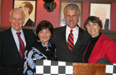 Madison Avenue Sports Car Driving and Chowder Society - Bruce Wennerstrom, Theresa and Corky Coker,and Genia Wennerstrom