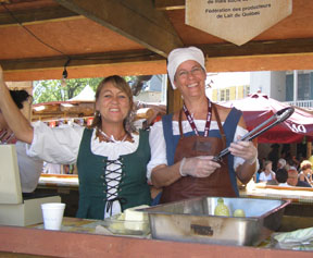 Food Vendors at Nouvelle-France Festival, Quebec, Canada - Photo by Luxury Experience