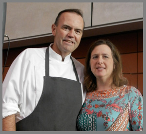 Chef Charlie Palmer and Beth A Shapiro of Citymeals on Wheels -Osyter Social - Aureole New York - photo by Luxury Experience