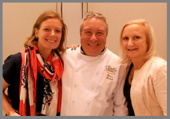 Christa Weaving, CIA Chef Bruce Mattel, Debra Argen - Osyter Social - Aureole New York - photo by Luxury Experience