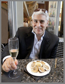 Edward Nesta at Osyter Social - Aureole New York - photo by Luxury Experience