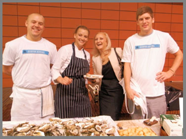 Debra Argen learning to Shuck and Oyster - Osyter Social - Aureole New York - photo by Luxury Experience