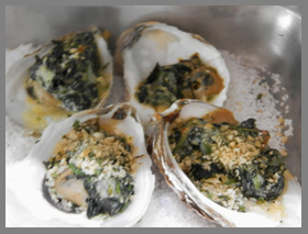 Oysters Rockefeller - Oyster Festival Aureole New York - Photo by Luxury Experience