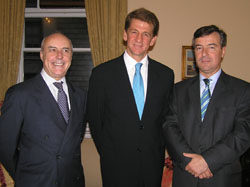 Consul General of Portugal in New York, Ambassador Alexandre Fernandes, Jorge Van Zeller Leitao, and Pedro Belo of bcpbank