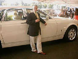 Edward F. Nesta and his Rolls Royce Phantom