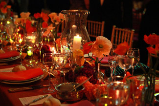 Dinner Setting at SAB 2013 Winter Gala - Photo by Erin Baiano