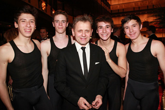 Mikhail Baryshnikov and Male Students - photo by Erin Baiano