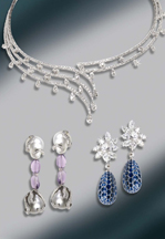 Jewels of Ocean - Diamond Necklace, Earrings