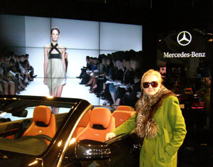 Debra Argen at Mercedes-Benz Fashion Week Fall 2010 Last at Bryant Park  - photo by Luxury Experience