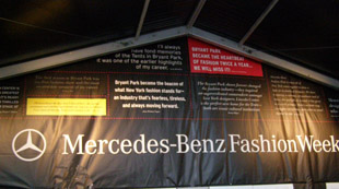 Entrance to Bryant Park - Mercedes-Benz Fashionweek Fall 2010 - Photo by Luxury Experience