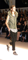 Yigal Azrouel Spring 2010 Design - Washed Leather Hooded Vest