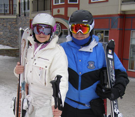 Debra and Edward with Smith Optics Helmets and Goggles - Photo by Luxury Experience