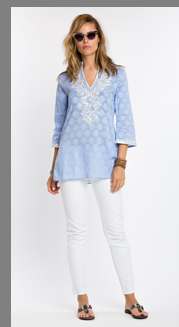 Lexi Periwinkle Tunic -Sulu Collection