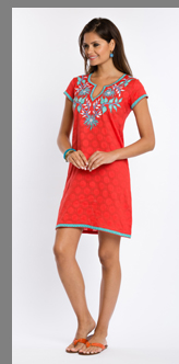 Summer Red Dress - Sulu Collection