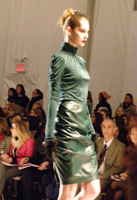 Cynthia Steffe Hunter Turtleneck and Leather Skirt