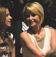 Nicky and Paris Hilton at Mercedes-Benz Fashion Week New York February 2009