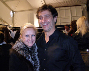Debra C. Argen and Designer Carlos Miele at Mercedes-Benz Fashion Week 2010