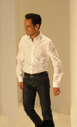 Raul Melgoza, Creative Director of Luca Lucai - Spring 2011 Women's Fashions - Photo by Luxury Experience