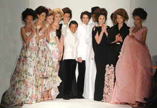 Zang Toi and Models - Spring 2011 MBFW NY