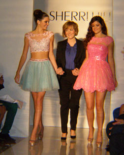 Sherri Hill and Models showing Spring 2013 Designs  - photo by Luxury Experience
