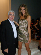 Edward F. Nesta and Alessadra Ambrosio - Mercedes Benz Fashion Week - Spring 2010