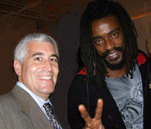 Edward F. Nesta and Seu Jorge at Carlos Miele Party
