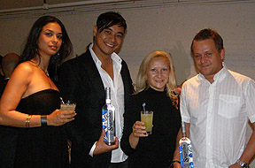 Lilia, Teddy, Debra, Jamie at Carlos Miele Party