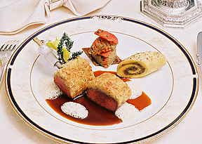 Chef Rainer Sigg loin of lamb