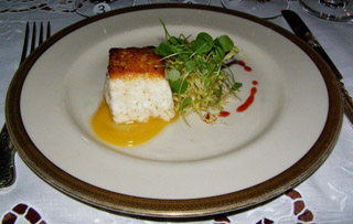 Haddock, Orange, Watercress and Frisee - Wine Pairing Dinner, Blantyre, Lenox, Massachusetts, USA - Photo by Luxury Experience