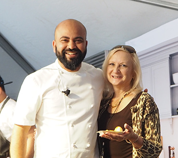 Chef Sujan Sakar and Debra C. Argen - USA Today Network Wine and Food - photo by Luxury Experience