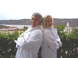 Chef Edward and Chef Debra at The Culinary Institute of America in Hyde Park, New York