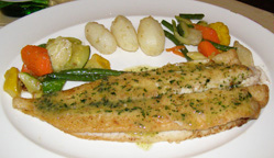 Dover Sole - Escoffier Restaurant at The Culinary Institute of America in Hyde Park, New York