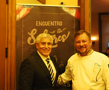 Chef Angel Garcia and Edward Nesta - Photo by Luxury Experience