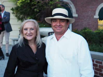 German Gonzalez and Debra C. Argen - photo by Luxury Experience