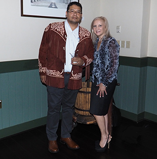 Manuel Viiareal Lara and Debra C. Argen - photo by Luxury Experience