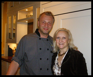 Danish Master Chocolatier Fritz Knipschildt and Debra Argen - Photo by Luxury Experience