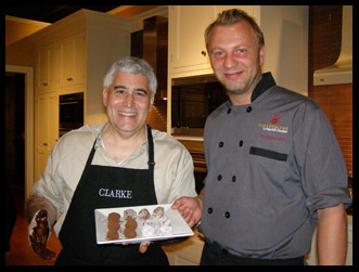 Danish Master Chocolatier Fritz Knipschildt and Edward Nesta  - Photo by Luxury Experience