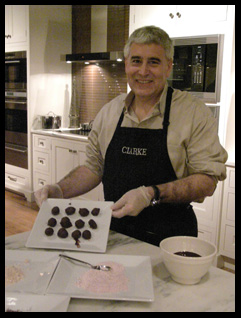 Edward Nesta with rolled chocolate truffles  - Photo by Luxury Experience
