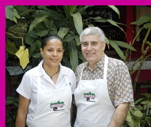 Carmen Porras and Edward F. Nesta at El Arrayan, Puerto Vallarta, Mexico - photo by Luxury Experience