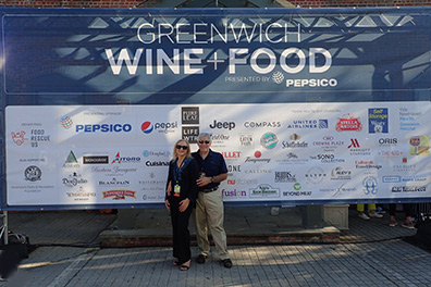 Debra C. Argen and Edward F. Nesta - Greenwich WINE + FOOD 2019 - photo by Luxury Experience