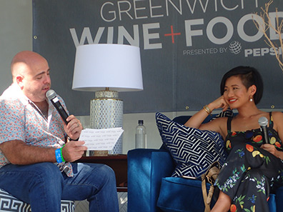 Matt Storch and Jessica Tom - Greenwich WINE + FOOD 2019 - Photo by Luxury Experience