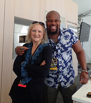 Chef David Rose and Debra C. Argen - Greenwich Wine Food 2019 - photo by Luxury Experience