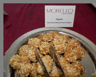 Morello Italian Bistro cookies - Greenwich Food + Wine Festival - photo by Luxury Experience