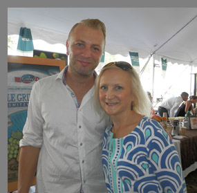 Fritz Knipschildt and Debra Argen - Greenwich Food + Wine Festival - photo by Luxury Experience