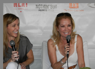 GIFFT Wines - Heidi Scheid and Kathy Lee Gifford- Greenwich Food + Wine Festival - photo by Luxury Experience