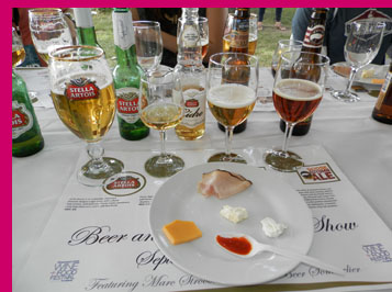 Beer and Food pairing -photo by Luxury Experience