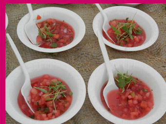 Watermelon Soup - Geronimo Tequila Bar and Southwest Grill - photo by Luxury Experience