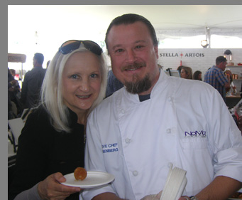 Chef Bill Rosenberg, Debra C. Argen -- Greenwich WIne Food Festiaval - Photo by Luxury Experience