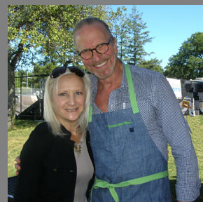 Chef Michel Nischan, Debra C. Argen - - Greenwich WIne Food Festiaval - Photo by Luxury Experience