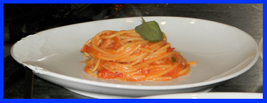 Spaghetti al Pomodoro by Chef Luca Signoretti at The International Culinary Center - photo by Luxury Experience